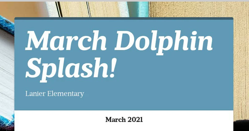 Title Cover of March Dolphin Splash