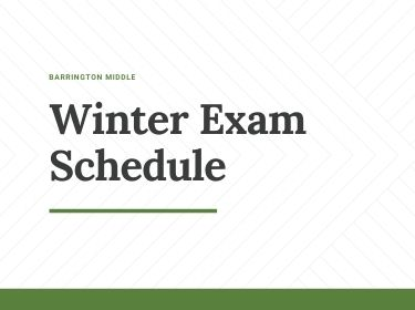 Winter Exam Schedule