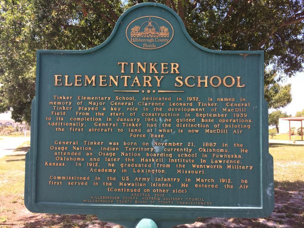 Photo of Tinker sign
