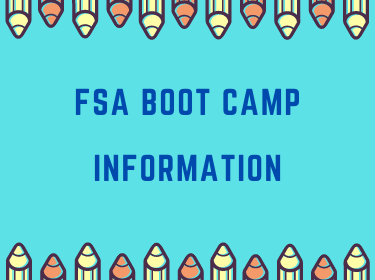 Logo for FSA Boot Camp info