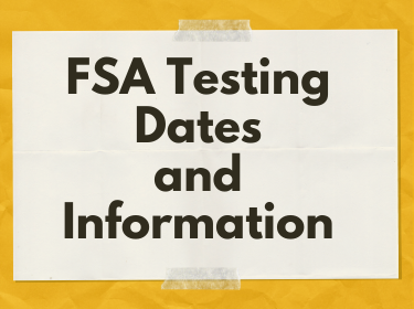 Logo for FSA test dates and info