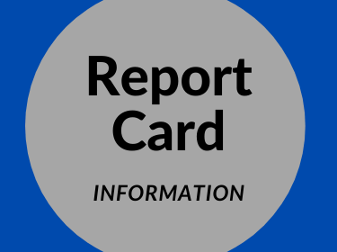 graphic that reads report card information